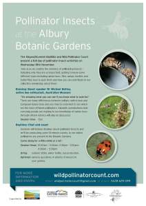 Albury Botanic Gardens events flyer