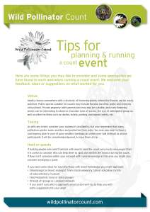 Tips for planning and running a count event