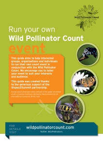 cover image for run your own pollinator count event kit
